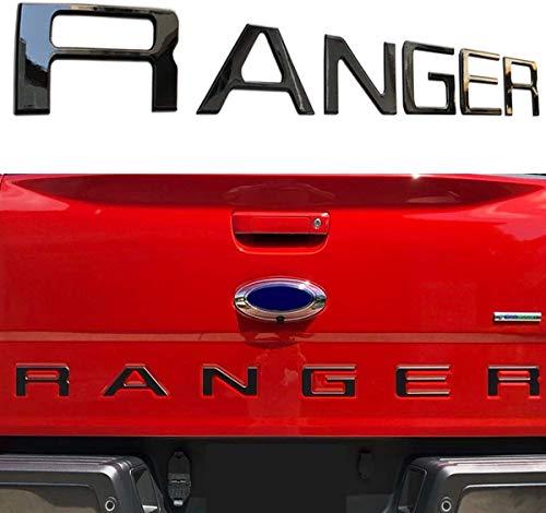 Raised Tailgate Insert Letters Fits for 2019 Ford Ranger ((Matte Black)