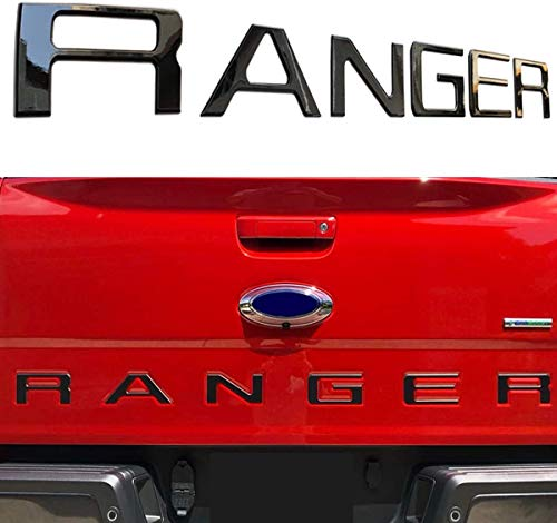 Raised Tailgate Insert Letters Fits for 2019 Ford Ranger ((Matte Black)
