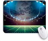 KAPANOUマウスパッド 緑のアクティビティサッカーレンダリング3Dテクスチャスポーツレクリエーションサッカーゲート活気のあるアリーナボールベスト ゲーミング オフィ滑り止めゴム底 ゲーミングなど適用 用コンピュータ