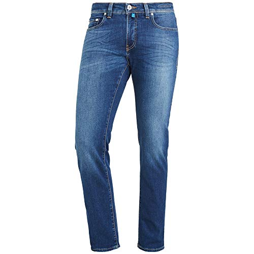 Pierre Cardin Herren Futureflex Tapered Fit Jeans, Blau (Dark Vintage Blue 01), W38/L32