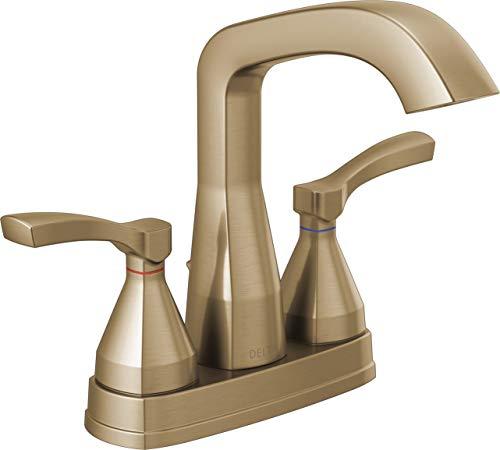 DELTA Stryke Gold Bathroom Faucet, Centerset Bathroom Faucet, Diamond Seal Technology, Metal Drain...