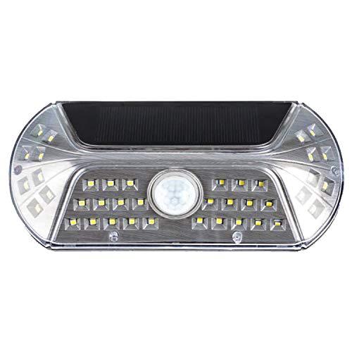 キシマ ビジル ソーラー人感センサーライト Silver サイズ:約W190 D40 H90 KL-10379