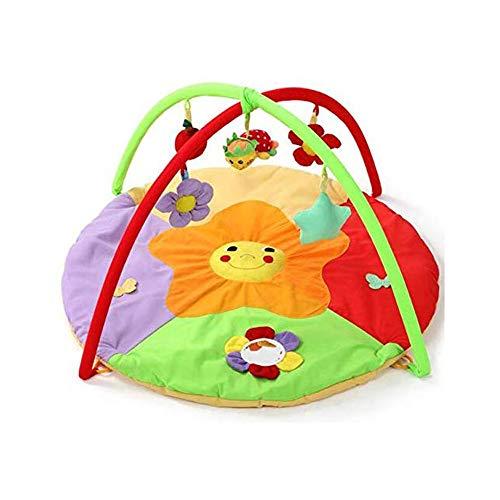 KJRJH Sun Flower Activité Gym, 0-2 Ans du Nouveau-né Couverture de Jeu Toy Tapis de Remise en Forme en Rack Enfant Crawling Mat Développer Brain Power Early Education Toy Jeune Enfant Pliable