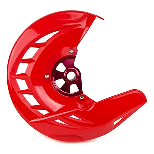 ZHUSHANG SHUANGX Motocycle Front Friend Disc Guard Protector Cover Fit para CR 125R 250R 2004-2020 CRF250R CRF 250X 450X (Color : Red)