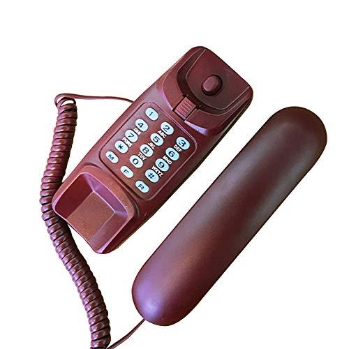 TeléFono De Pared, TeléFono Fijo Para El Hotel Del Ministerio Del Interior, DiseñO Simple, Rendimiento Estable, Escritorio Cableado TeléFono De Pared TeléFono Fijo (Rojo)
