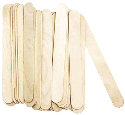 Amkoskr Natural Jumbo Craft Sticks 8' Length Wood Finish Tongue Depressors Birch Wood Stick Ice Cream Sticks 200 Pcs 200mm