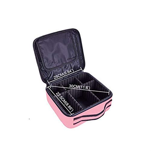 ZJXYYYzj Trousse De Maquillage, Femmes Marque Maquillage Voyage Cosmetic Case Multifonction Sac Organisateur Esthéticienne Grand Make Up Pouch Valise (Color : Pink)