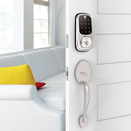 Yale Assure Lock with Z-Wave - Smart Touchscreen Keypad Deadbolt - Works with Ring Alarm, Samsung SmartThings, Wink, ADT and More - Satin Nickel