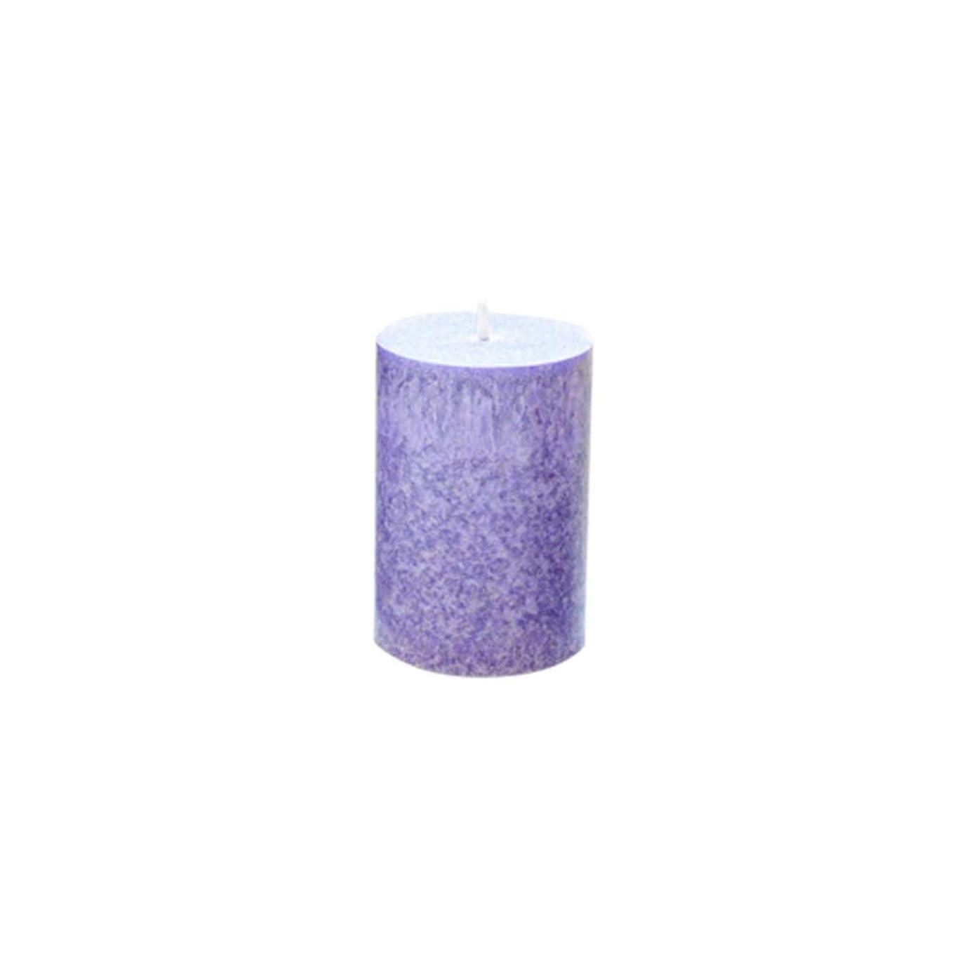 ペルセウス頑丈代表団Rakuby 香料入り 蝋燭 ロマンチック 紫色 ラベンダー アロマ療法 柱 蝋燭 祝祭 結婚祝い 無煙蝋燭