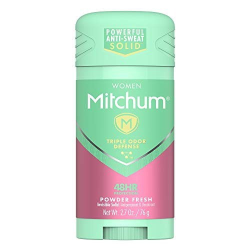 Mitchum Women Stick Solid Antiperspirant Deodorant, Powder Fresh, 2.7 Ounce (Pack of 1)