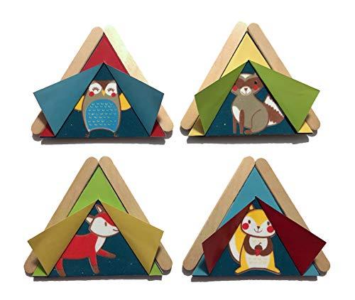 Woodland Animal Tent Camping Foam Craft Kit- Makes 20