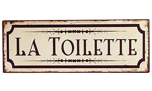 zeitzone Blechschild LA Toilette Toilettenschild Vintage Nostalgie Dekoschild 36x13cm