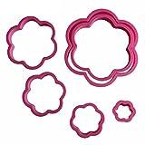 Juego de 6 piezas de plástico con forma de flor de ciruelo, para sellar galletas y pasteles