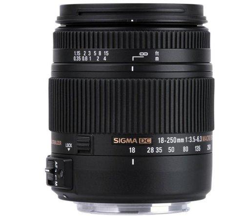 Sigma 18–250mm f3.5–6.3DC Macro OS HSM Objektiv (Macro, SLR, 16/13, 3,5–6,3, automatisch/manuell, 18–250mm)