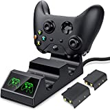 Controller Charger for Xbox One, Controller Charging Station Compatible with Xbox One/X/S Elite Controller, Dual Charging Dock with 2X1200mAh Rechargeable Battery