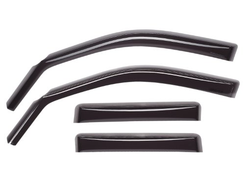 WeatherTech Custom Fit Front & Rear Side Window Deflectors for Dodge Ram 1500, Dark Smoke - 82503