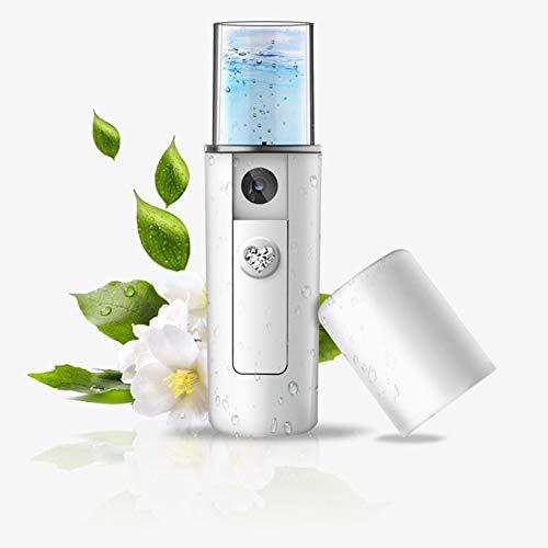 JSG Humidificador Portatil Facial 20ml de Bolsillo USB Instrumento de Belleza Aromaterapia Ultrasónico Luz Led Difusor de Aceites Naturales Portatil Blanco