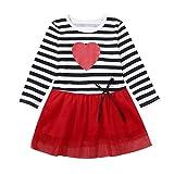 AMhomely Sale - Vestido de princesa de tul a rayas para el día de San Valentín