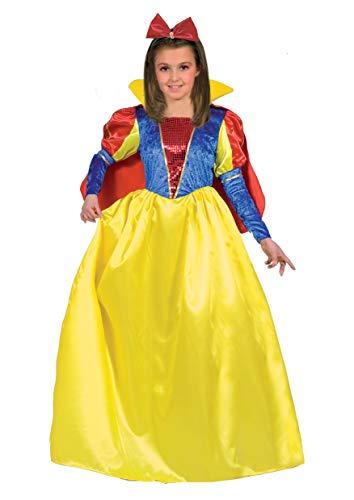 Ciao Biancaneve Costume Bambina, Giallo/Rosso/Blu, 7-9 Anni