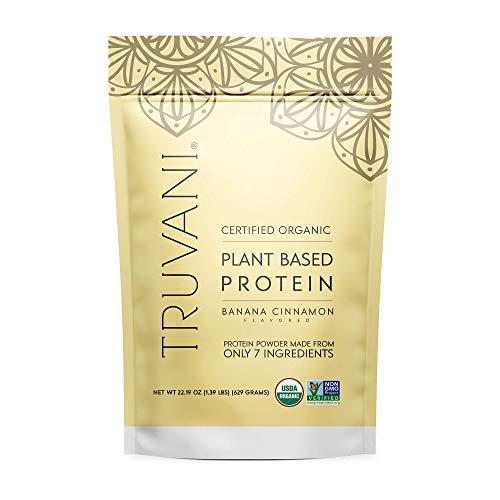 TRUVANI - Plant Based Protein Powder - USDA Certified Organic Protein Powder, Vegan, Non-GMO, Gluten Free Protein Powder (Banana Cinnamon)