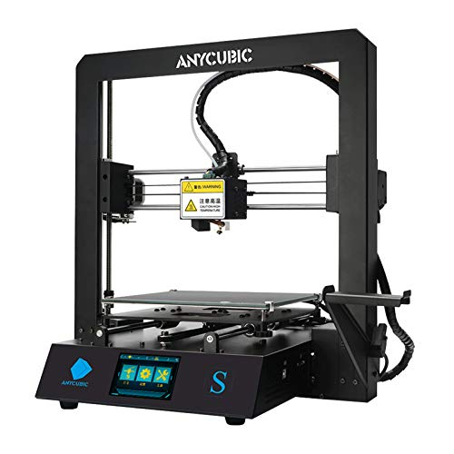 ANYCUBIC 3D Printer Mega S All Metal Frame and Updated Extruder, FDM DIY Printer Works, Free Test Filament with TPU/PLA/ABS 210x210x205mm Size