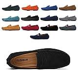 AARDIMI Mocassins en Daim Hommes Penny Loafers Casual Bateau Chaussures de Ville Flats 38-49 (43 EU, Z-Noir)