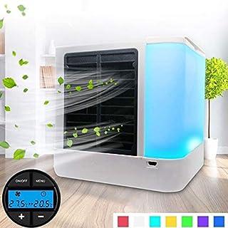 G-RF Aire Acondicionado Portatil Pantalla Digital Mini Ventilador de Aire Acondicionado portátil Mini Hogar refrigerador Ventilador de refrigeración con el Bolso de Hielo (Blanco) (Color : White)