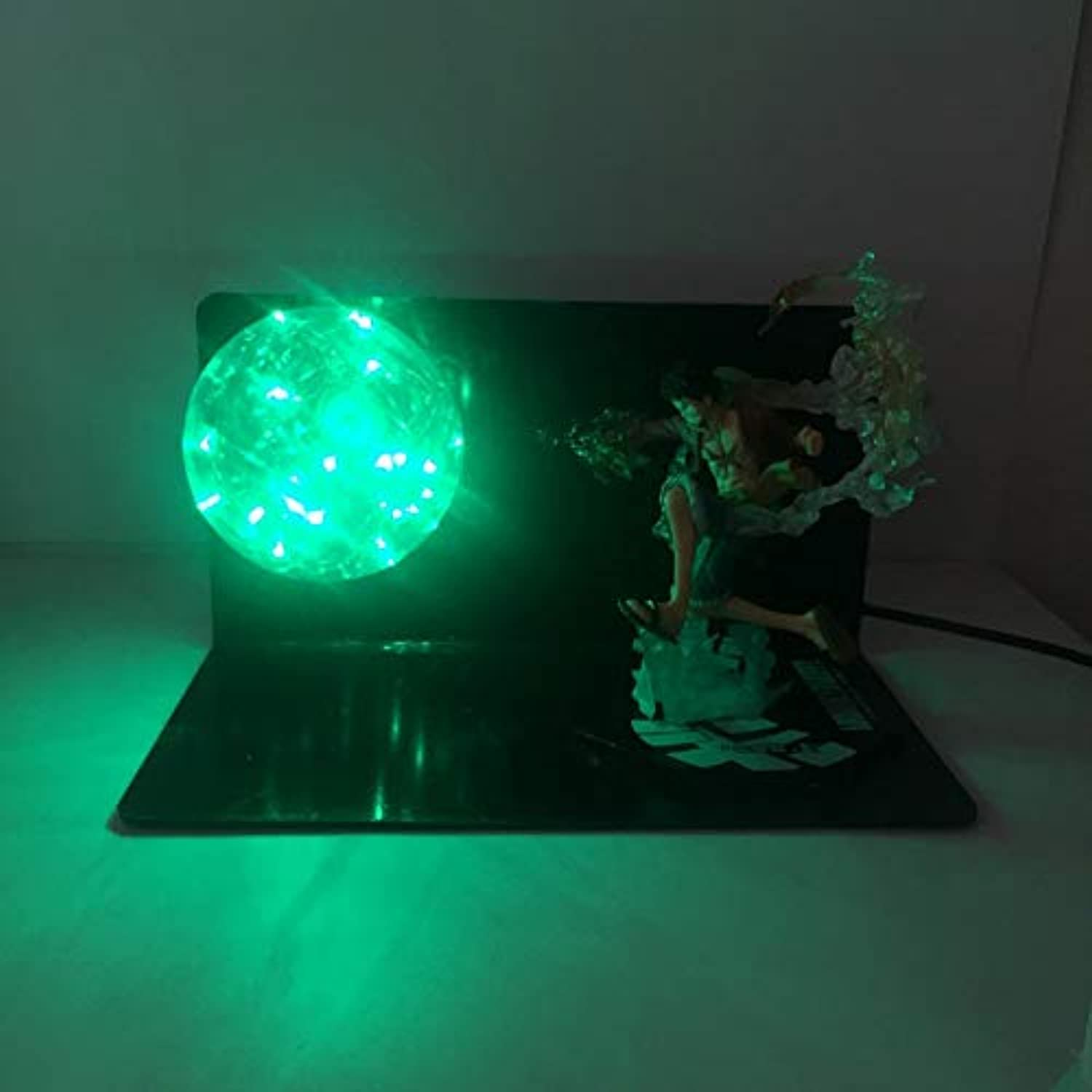 Dragon Ball LightKreative Anime handgefertigte One Piece LED Auge Lampe Ornamente Puppe Modell Tischlampe, grün