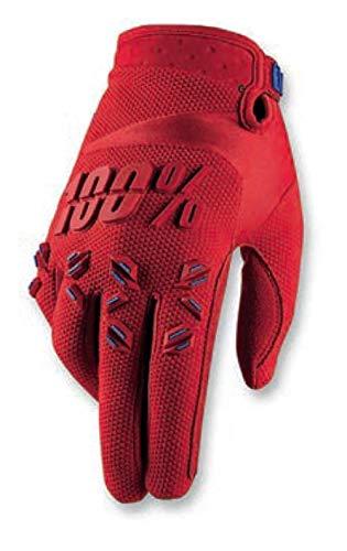 100% Gants Airmatic Rouge Taille XL - Feu Rouge, XXL, rouge