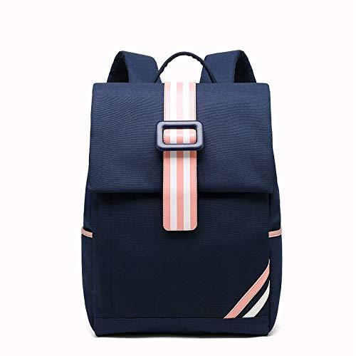 Hanggg reisrugzak voor dames, van Oxford-stof, rugzak voor laptop, USB, reistas blu