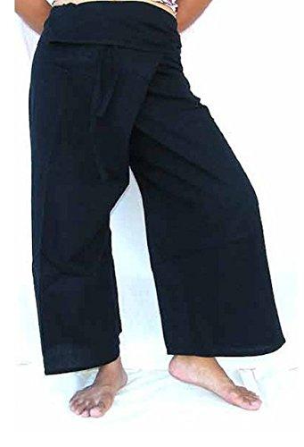 Thai Fisherman Pants Yoga bleu foncé écharpe longue pantalons paréos douces