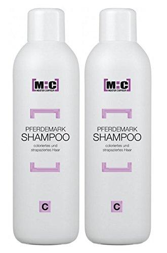 Meister Coiffeur Pferdemark Shampoo C 2 x 1000 ml für coloriertes und strapaziertes Haar von M:C
