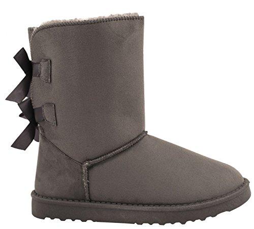 Elara Damen Stiefel Winter Boots Chunkyrayan S129-Grau-40