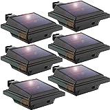 Luz solar LED para canalón, Justn para exteriores, 25 ledes, interruptor automático, 6 unidades (juego de 6)