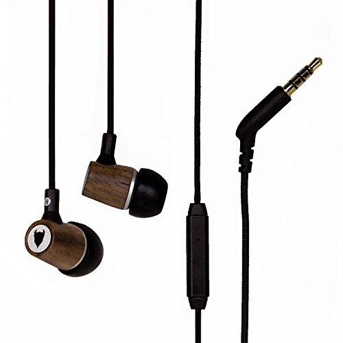 MediaDevil Artisanphonics EB-03 Auricolari in Legno Premium con Microfono Incorporato