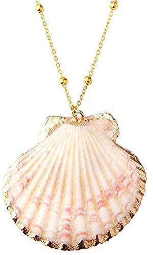 ZQMC Collar de Concha Sea Beach Collar con Colgante de Concha para Mujer Joyas de Verano Boho