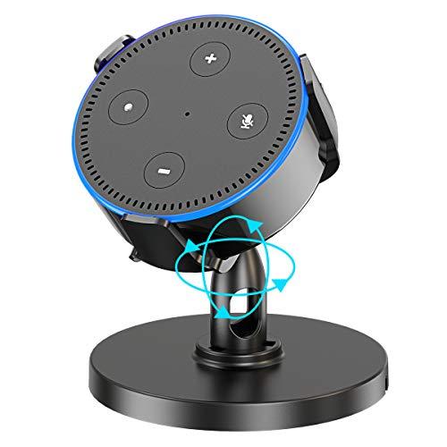 ZEEANKER Tischhalterung für Echo Dot(2.Gen), Adjust 360 ° verstellbare Ständerhalterung für Smart Home-Lautsprecher, Verbessert die Sichtbarkeit und das Erscheinungsbild des Klangs (for dot 2rd)