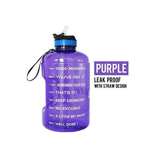 Botellas de agua reutilizable Copa de agua 3.78L 2.2L 1.3L 128 oz 1 galón botella de agua con paja claro de plástico botella de agua Botella gimnasio grande Jug Copa BPA del gimnasio de deportes, amat