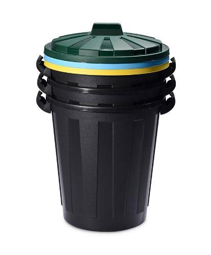 DEA HOMEART446 vuilnisbak Mr. Eco 45 L, 47 x 47 x 66 cm, zwart.