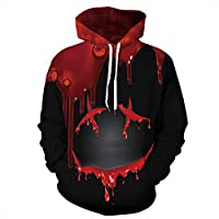 Newcosplay Unisex 3D Print Pullover Hoodie Sweatshirt (many style options)