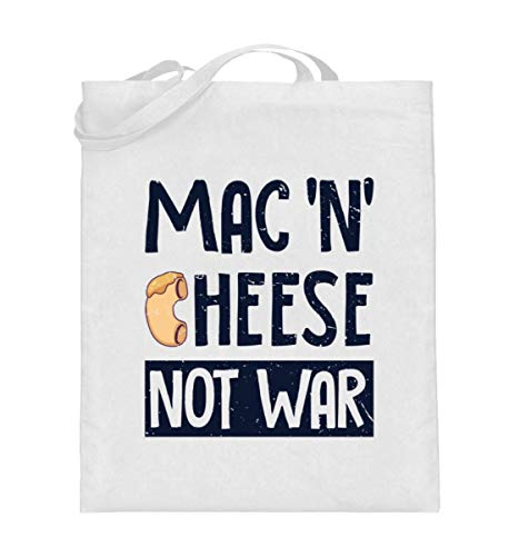 Generisch Sac en toile de jute pour fromage macaroni Mac N Cheese Fromage | Mac Cheese not War - Blanc - Blanc., 38cm-42cm