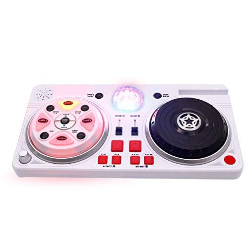 ToPicks Table de mixage DJ avec microphone casque pour garçons et enfants comme cadeau d'anniversaire, avec fonction Scratch Effets sonores et effets lumineux