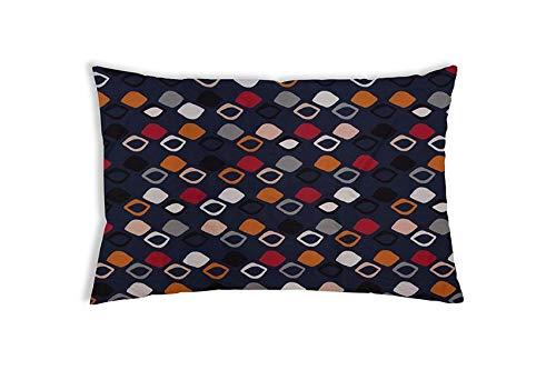 Balance Original Therapiekissen Gesundheitskissen für Erwachsene gegen Schlafprobleme, Blaues Muster, Zirbenholz, 40 x 60 cm