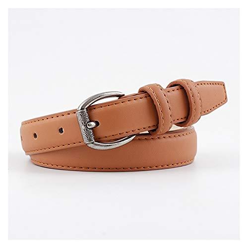 YEVYG Cinturón de Mujer Cinturón de Cintura de Punk Punk Punk para Mujer Vintage Cinturón de Cuero Largo Ancho para Mujer para Mujer Sofisticado y Elegante (Belt Length : 110x2.3cm, Color : Camel)