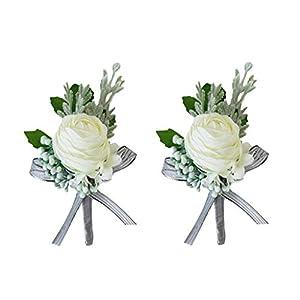 mens lapel pin custom gift groom  boutonniere White silk flower dandelion