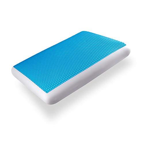 Neblus Almohada Ortopédica,, Freeze Gel, Ideal para Relajarse con Tecnología Memory Foam para Amoldarse Perfectamente a tu Cuerpo y con Gel Térmico para Regular tu Temperatura, Blanco