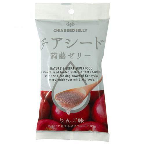 チアシード蒟蒻ゼリーミニ りんご味 6個×24袋入×(2ケース)