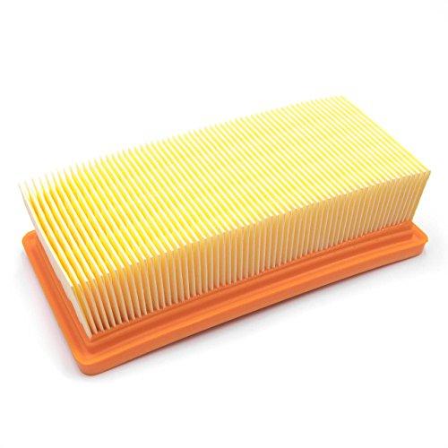 vhbw Flachfalten-Filter kompatibel mit Staubsauger, Saugroboter, Mehrzwecksauger Kärcher WD 7.000, WD 7.200, WD 7.300, WD 7.500, WD 7.700, WD 7.800