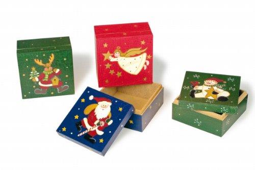 small Foot Company 7676 Weihnachtsschachteln, 4-er Set