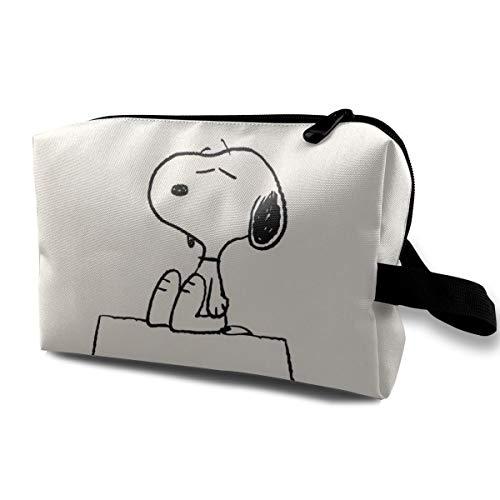 LIUYAN Neceser de Viaje Original Snoopy Organizador de Maquillaje y Almacenamiento para Mujeres y niñas
